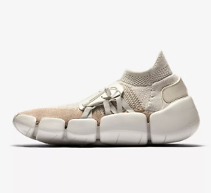 NIKE FOOTSCAPE FLYKNIT DM Trainers Gym Casual Sock-like - Multi Sizes Light Bone