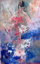 "SUPERBA sieri ORIGINALE CAVALIERE s.w.a ""FLAMENCO"" DANCE IMPRESSIONISTA Painting"