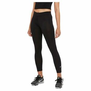 Nike Women's Tight Fit Mid Rise 7/8 Length Essential Leggings In Black