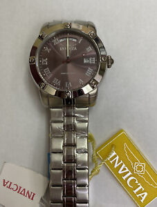 New Mens Invicta Steel Sport 10 Atm Day Date New Watch 5258 - Not working