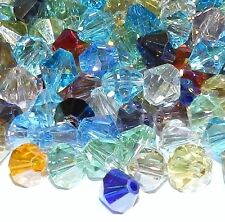 CBL820 Assorted Mix Color AB 8mm Faceted Bicone Cut Crystal Glass Beads 50pc