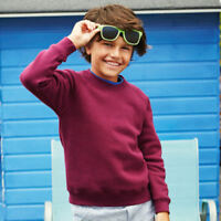 Fruit of the LoomSS271 Classic Kids Sweatshirt Plain Sweater Jumper Top Pullover