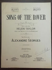 SONG OF THE ROVER Helen Taylor from French Victor Barrucand by Alexandre Georges
