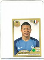 PANINI WORLD CUP 2018 KYLIAN MBAPPE SWISS GOLD STICKER NO 209