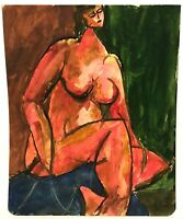 RALPH DUBIN 1919-1988 CUBIST MODERNIST NUDE PORTRAIT PAINTING NEW YORK CITY