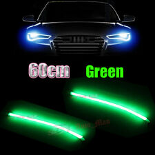 2pcs 60cm Green Soft Tube LED Strip Lights For Car Motorcycle Headlight Retrofit