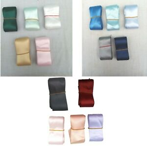 PACK OF 10 METRES 4cms WIDE RIBBON OFF CUTS REMNANTS CRAFT PROJECT BUNDLE