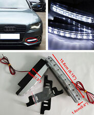 2x 12V Euro 8LED Driving Fog Lamp DRL Daytime Running Lights Daylight For BMW