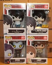 Funko POP Death Note Hot Topic Exclusive L With Cake Ryuk Light & L!!!