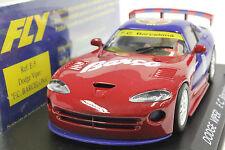 FLY E5 DODGE VIPER GTS-R F.C.BARCELONA FUTBOL NEW 1/32 SLOT CAR IN DISPLAY CASE