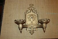 Antique Architectural Wall Sconce Lighting Fixture Scroll Designs Candle Holder