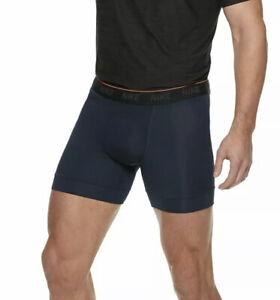 Lot Of Brand New Nike Men's Boxer Briefs 2-Packs  Navy Blue /Grey - 4 Total Sz L