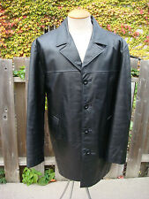Men's Genuine Leather Coat With Insulated Lining - Size Medium - By Pelle Cuir