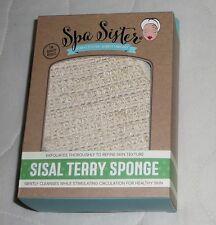 Spa Sister Sisal Terry Sponge Exfoliating Body Bath Shower Skin