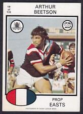 Scanlens Arthur Beetson NRL & Rugby League Trading Cards