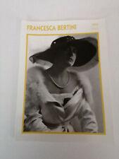 francesca Bertini - Fiche cinéma - Portraits de stars 13 cm x 18 cm