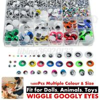 1680 Pcs Self Adhesive Sticky Wiggle Googly Eyes Assorted Sizes Kids Crafts
