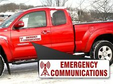 Red Emergency Communications Vehicle Magnet sign ARES RACES SKYWARN & Ham Radio