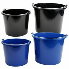 More details for emmer feeding buckets elements 12l /22l plastic easy grip stable horse equipment