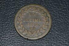 1 decime 1815.BB louis XVIII