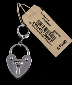 CHARM FOSSIL für Kette oder Armband HERZ SCHLOSS HEART LOCK NEU JF00032040
