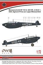 OWL 1/72 Messerschmitt Bf-110D-0 dackelbauch (Lippe-wiessenfeld) # S7210