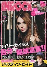 INROCK Jul 2010 7 Japan Music Magazine MILEY CYRUS Taylor Swift Justin Bieber