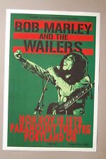 Bob Marley And the Wailers Concert Tour Poster 1979 Portland Paramount Theatre