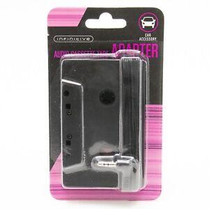 Car Stereo Cassette Adapter Tape with 3.5mm Headphones Jack Plug Black