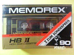 🔛 2x MEMOREX HB II 90 High Bias tapes cassettes Kassetten кассеты Pack of 2 🔝*