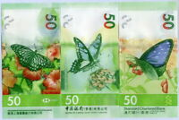HONG KONG SET 3 UNC 50 DOLLARS 2018 / 2020  P 219 303 349 HSBC SCB BOC