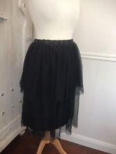 Ladies ASOS Curve Black Net Tutu Layered And Lined Skirt Plus size UK 28/Eur 56
