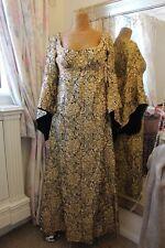 1970 S Quad or Médiéval Robe-Ditsy vintage Taille 10 Déesse Angel Manche