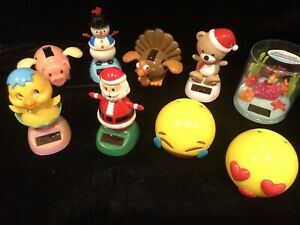 Mixed Lot of 9 Solar Dancing Toys