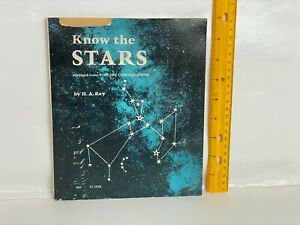 1969 Know The Stars by HA Rey Scholastic 3rd Printing Softcover