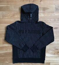 100% authentic Supreme Collegiate Box Logo Pin Striped Hoodie Black M cdg #403