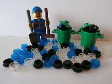 LEGO CITY  Müllmann +2 Mülltonnen mit Deckel +Besen +Schaufel +60 Plättchen  NEU
