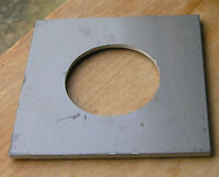 """Calumet 4x4"""" metal  lens board panel with 52mm hole 105822 modified"""
