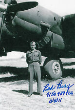 "Band of Brothers D-Day C-47 Drop Pilot Gerald ""Bud"" Berry WWII SIGNED 4x6 PHOTO"