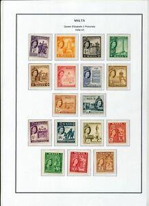 MALTA 1956/57 MNH To 1 Pound(17 Items)ZA 88