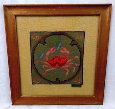"""Astrological Sign Cancer Crab Framed Needlepoint 14.75"""" x 15.25"""""""