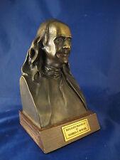 BEN FRANKLIN signed Justice Warren Burger bronze bust