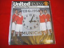 More details for manchester united v man city~ munich 58 ~ 50th anniv ~ programme ~10 feb 2008