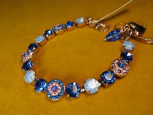 MARIANA BRACELET SWAROVSKI CRYSTALS SAPPHIRE BLUE PINK MULTI COLOR Rose Gold PL