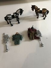 Mega Bloks Halo?  Horses Rare knights mini soldier figures weapons lot