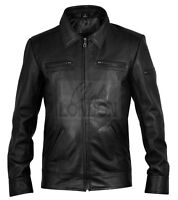 Men's Lynch Black Leather Jacket
