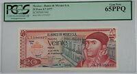 8.7.1977 Banco de Mexico S.A. 20 Pesos Note SCWPM# 64d PCGS 65 PPQ Gem New