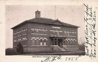 High School, Longmont, Colorado, Early Postcard, Used in 1906