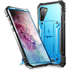 Galaxy Note 10 Case,Poetic® Dual Layer Shockproof Kick-stand Cover Blue