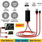1080P HD HDMI Cable Adapter  HDTV AV Converter For iPhone X 8 7 6  iPad iPod A+